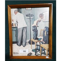 """DOCTOR'S OFFICE"" BY NORMAN ROCKWELL 1958 PRINT"