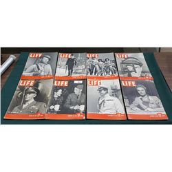 EIGHT WWII LIFE MAGAZINES