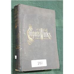 1891 WORKS OF J. FENNIMORE COOPER HARD COVER NOVEL