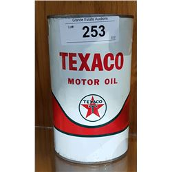 1960'S TEXACO MOTOR OIL QUART