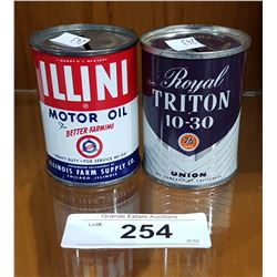 TWO VINTAGE UNION 76 & ILLINI MOTOR OIL COIN BANKS