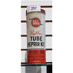 VINTAGE WHIZ RUBBER TUBE REPAIR KIT METAL CAN ( HARD TO FIND)