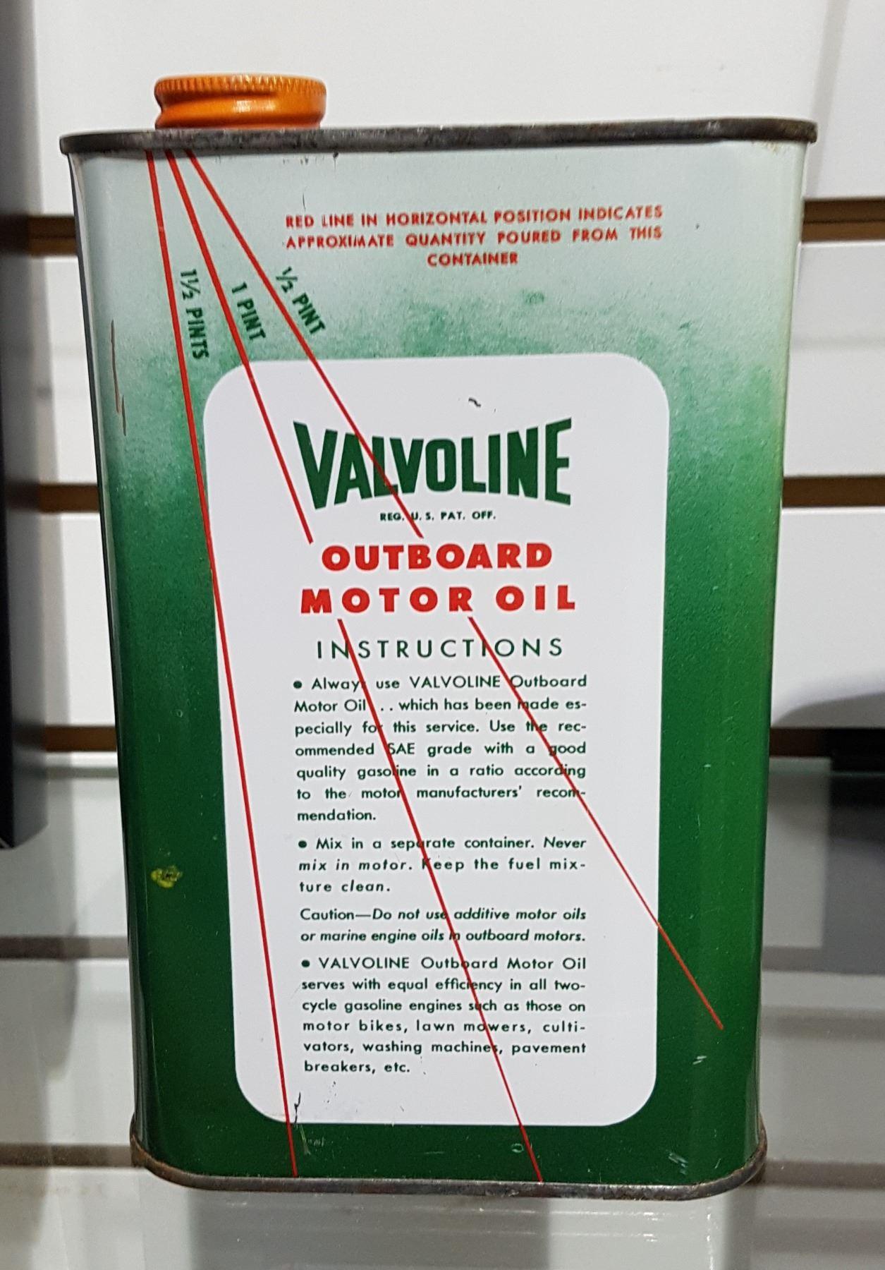 VINTAGE VALVOLINE OUTBOARD MOTOR OIL QUART