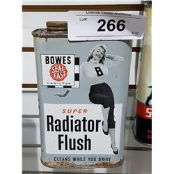 VINTAGE BOWES SEAL FAST RADIATOR FLUSH SQUARE CAN