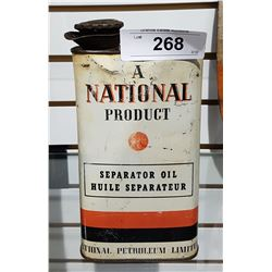 VINTAGE NATIONAL SEPARATOR OIL CAN