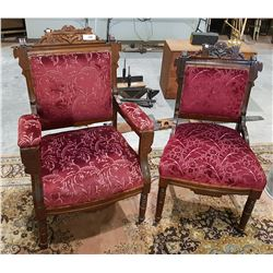 TWO EASTLAKE PARLOUR CHAIRS