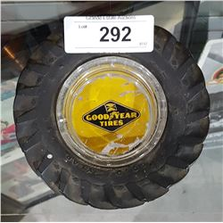 VINTAGE GOOD YEAR RUBBER TIRE ASHTRAY