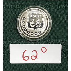 1 TROY OUNCE .9999 FINE SILVER ROUTE 66 COIN