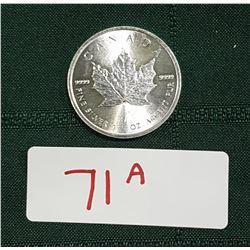 2014 1 OUNCE .9999 FINE SILVER MAPLE LEAF COIN