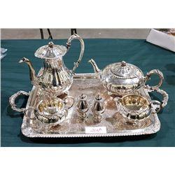 VINTAGE 8 PIECE SILVERPLATE TEA SERVICE