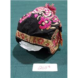 VINTAGE EMBROIDERED CHINESE CHILDRENS FESTIVAL HAT