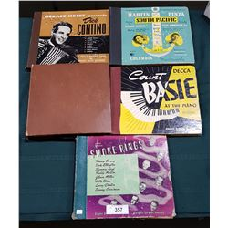 FIVE VINTAGE COLLECTIBLE BINDERS OF 78'S