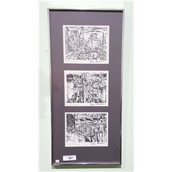 THREE FRAMED PRINTS BY SAM BLACK