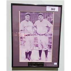 1929 NEW YORK YANKEES PHOTO LOU GEHRIG & BABE RUTH