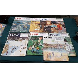 8 1950'S THE SATURDAY EVENING POST MAGAZINES