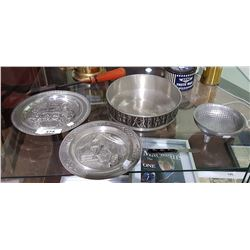FIVE PIECES PEWTER