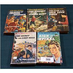 FIVE VINTAGE TOM QUEST HARD COVER ADVENTURE NOVELS