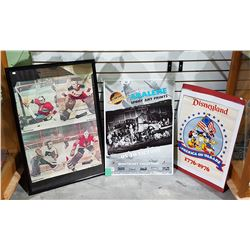 THREE LARGE COLLECTIBLE POSTERS