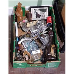 BOX LOT OF VINTAGE COLLECTIBLES