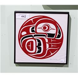"FRAMED NATIVE PRINT ""EAGLE"""