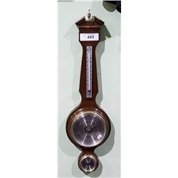 TAYLOR WOOD FRAMED WALL BARRAMETER/THERMOMETER