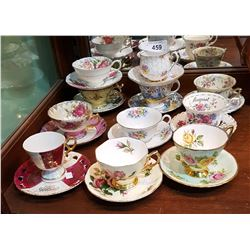 11 VINTAGE TEACUPS AND SAUCERS