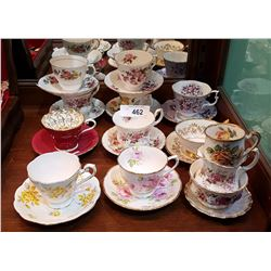 11 TEACUPS AND SAUCERS