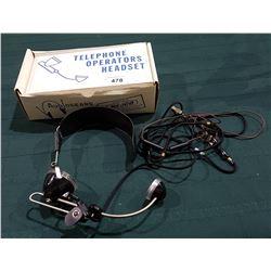 VINTAGE AUDIOSEARS TELEPHONE OPERATORS HEAD SET