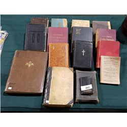 16 ANTIQUE VINTAGE FINNISH BOOKS AND BIBLES