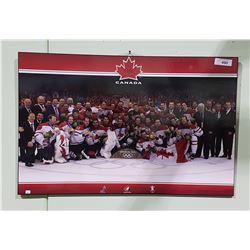 VANCOUVER 2010 OLYPICS CANADIAN MENS HOCKEY TEAM PRINT