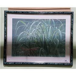 "FRAMED LIMITED EDITION ROBERT BATEMAN PRINT 310/1250 TITLED ""BEACH GRASS AND THE FROG"""