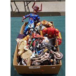 BOX LOT SUPERHERO ACTION FIGURES