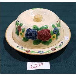 VINTAGE ENGLISH COVERED CHEESE DISH