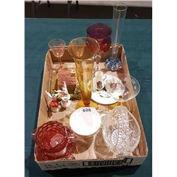 BOX LOT COLLECTION GLASS & CHINA