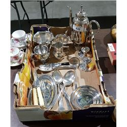 BOX LOT COLLECTIBLE SILVER PLATE
