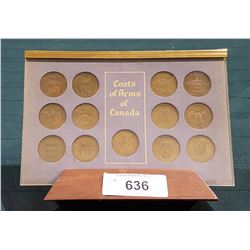 VINTAGE COAT OF ARMS & FLORAL EMBLEMS OF CANADA COMMEMORATIVE COIN SETS