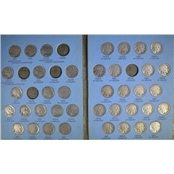 NICE PARTIAL BUFFALO NICKEL SET 59-DIFFERENT