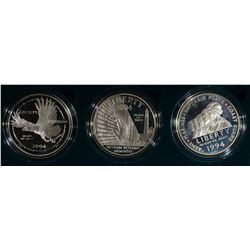 1994 VETERANS PROOF 3-COIN SET