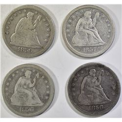 SEATED QUARTER LOT   NICE