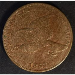 1857 FLYING EAGLE CENT, XF