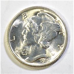 1916 MERCURY DIME, GEM BU FB