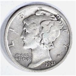 1921 MERCURY DIME, VF KEY DATE