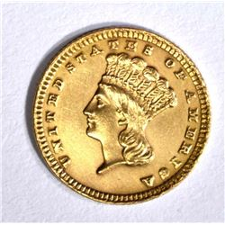 1885 $1 GOLD TYPE 3 BU CLEANED