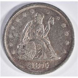 1875-S TWENTY CENT PIECE, AU