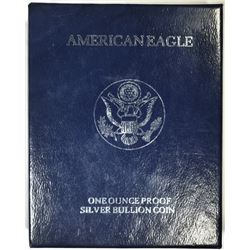 1994 PROOF AMERICAN SILVER EAGLE, BOX/COA