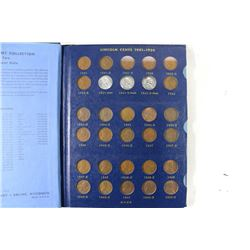 NEARLY COMPLETE 1941 UP LINCOLN CENT ALBUM 85