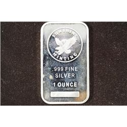 1 TROY OZ .999 FINE SILVER PROOF BAR SUNSHINE