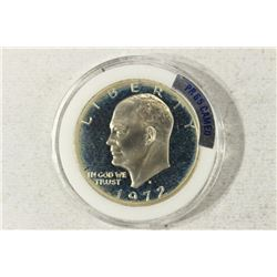 1972-S IKE SILVER DOLLAR PROOF CAMEO
