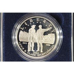 2004 LEWIS & CLARK BICENTENNIAL PROOF SILVER $