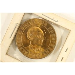 1928 ALFRED E. SMITH FOR PRESIDENT TOKEN FOR